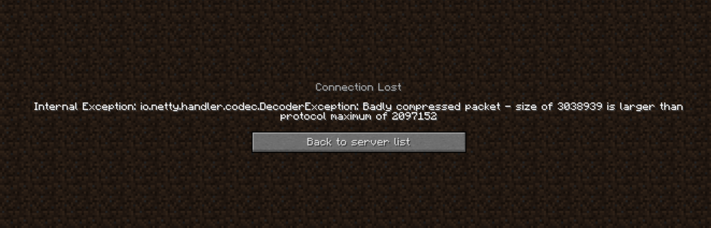 Cant join server