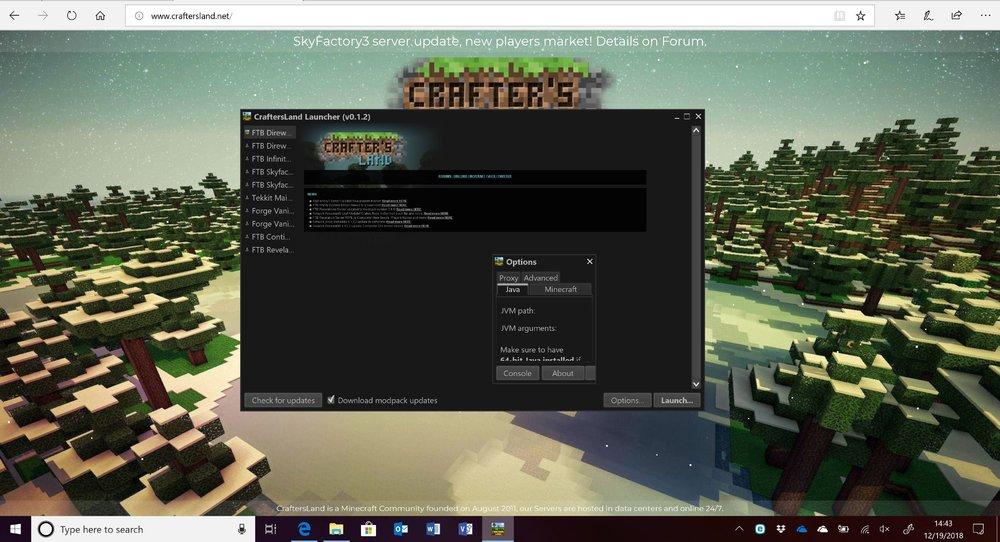 CraftersLand Launcher Help.JPG